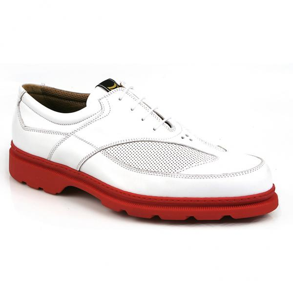 Michael Toschi G3 Golf Shoes White/Red Sole Image