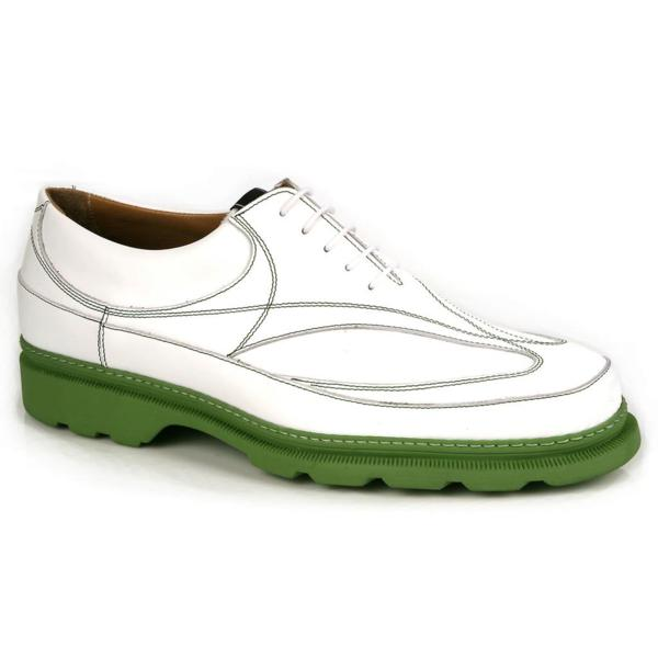 Michael Toschi GX Golf Shoes White / Green Sole Image