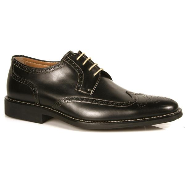 Michael Toschi Hessling Wing Tip Shoes Black Image