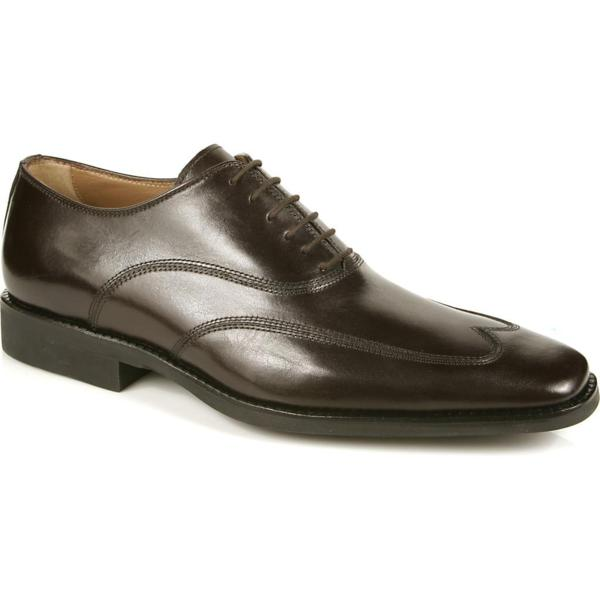 Michael Toschi Luciano Wing Tip Shoes Chocolate ...