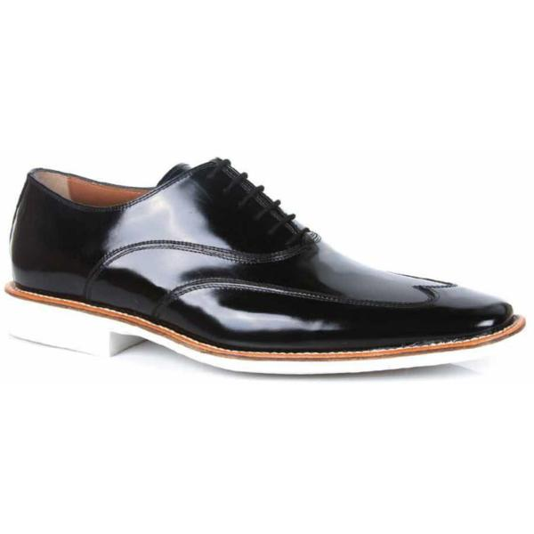 Michael Toschi Luciano SE Patent Leather Wing Tips Black Image