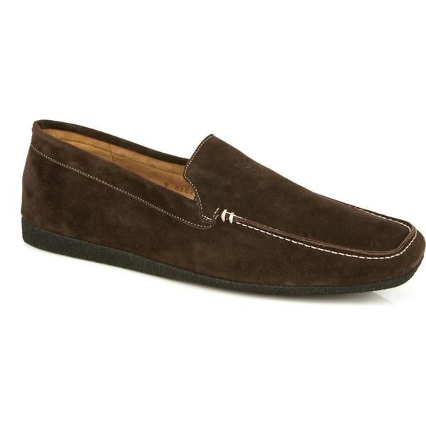 Michael Toschi Matina House Shoes Chocolate Suede Image
