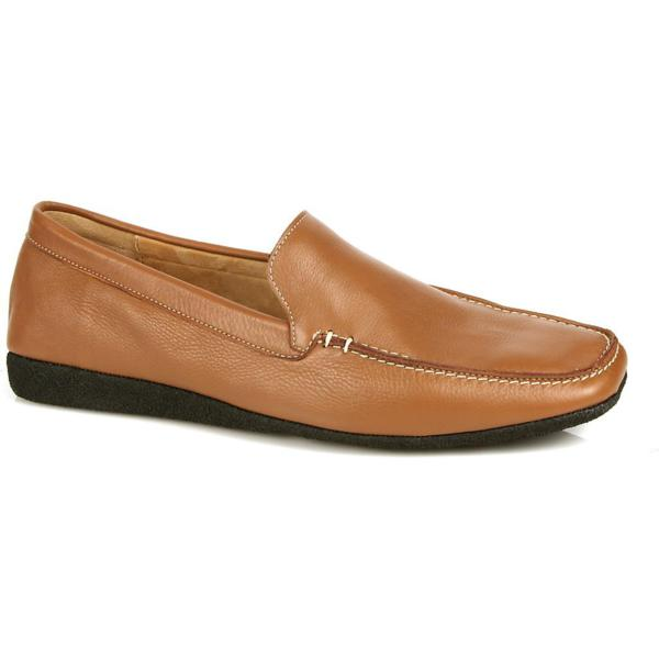 Michael Toschi Matina House Shoes Tan Pebble Grain Image