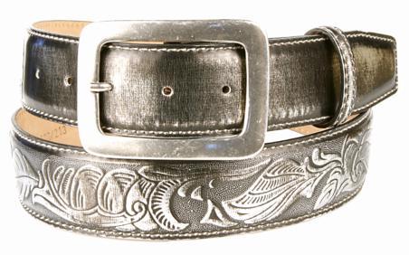 Michael Toschi 'Metal' Belt Black Chrome Image
