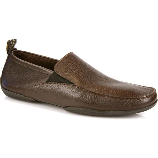 Michael Toschi Onda Driving Shoes Chocolate Pebble Grain Image
