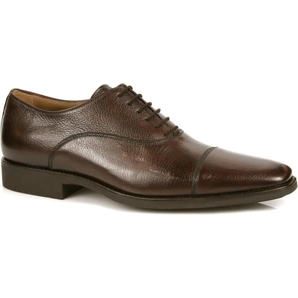 Michael Toschi Pietro Cap Toe Shoes Burgundy Image