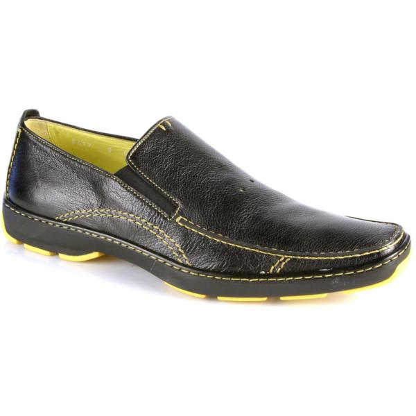 Michael Toschi SUV2 Casual Loafers Black / Yellow Sole Image
