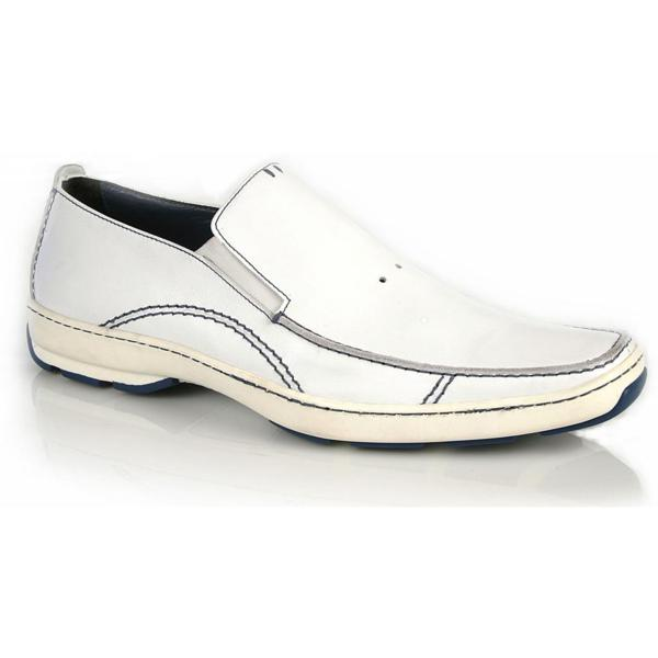 Michael Toschi SUV2 Casual Loafers White / Blue Sole Image