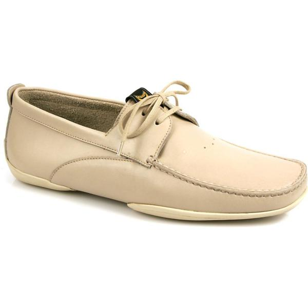 Michael Toschi Vela Boat Shoes Taupe/White Image