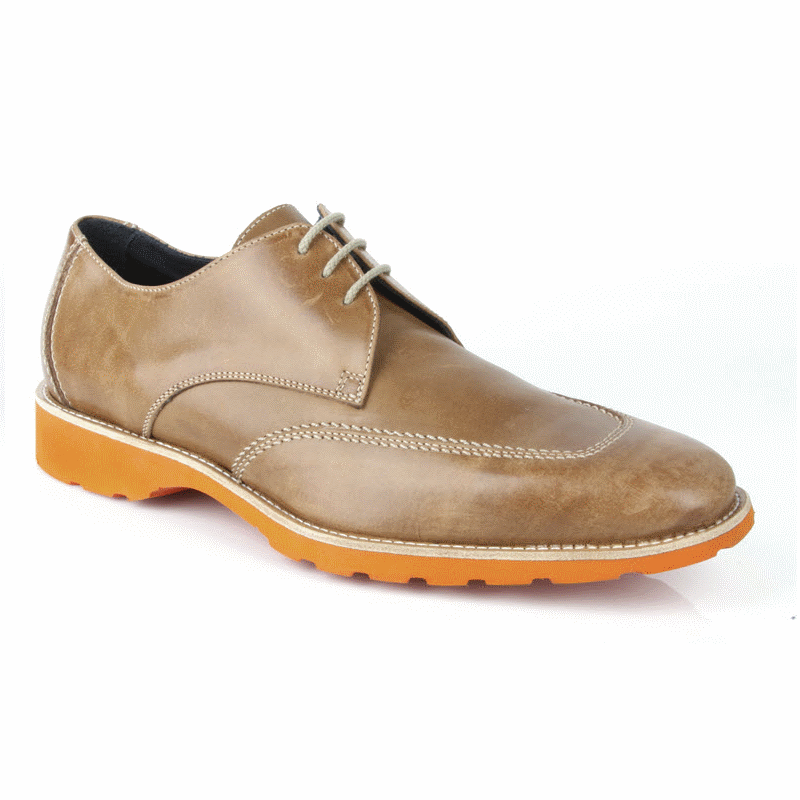 Michael Toschi SL2 Lace Up Shoes Tan/ Orange  Image
