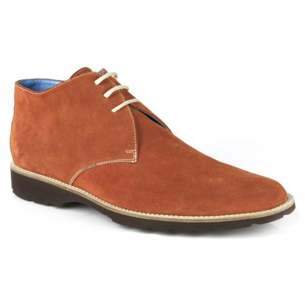 Michael Toschi SL800 Suede Chukka Boots Brick Image