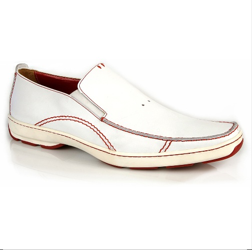 Michael Toschi SUV2 Casual Loafers White/Red Sole Image