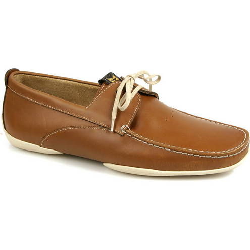 Michael Toschi Vela Boat Shoes Brown / White Image