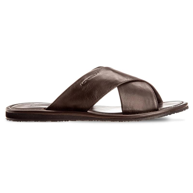Moreschi Barbuda Calfskin Sandals Dark Brown Image