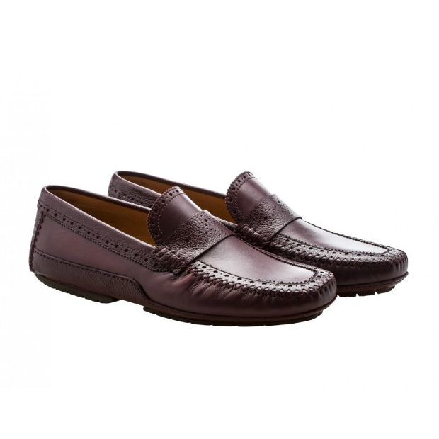 Moreschi 041859E Driving Loafers Burgundy (SPECIAL ORDER) Image