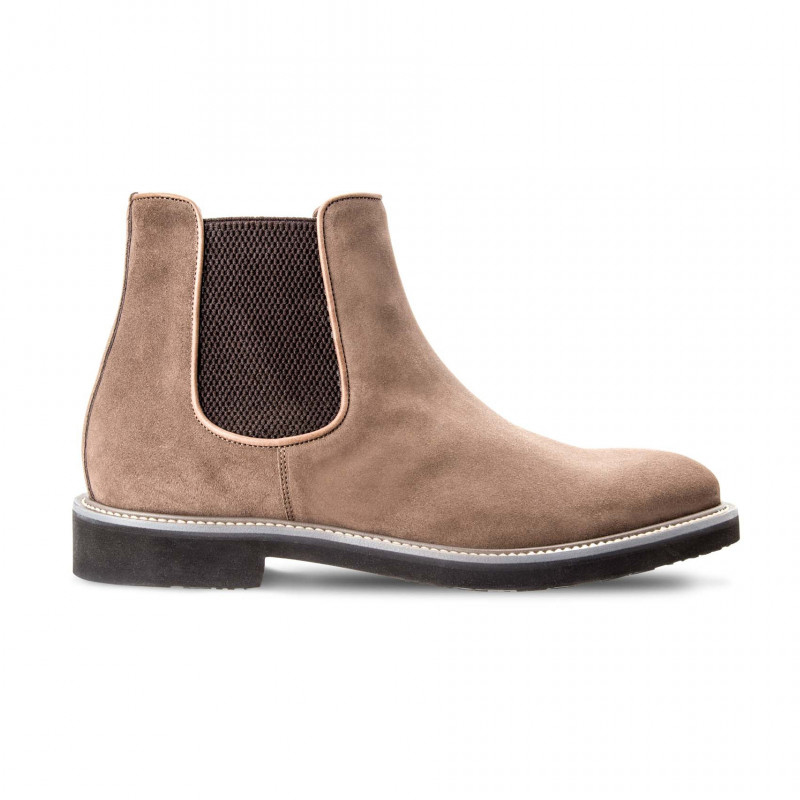 Moreschi 042381B Suede Leather Chelsea boots Beige (SPECIAL ORDER) Image