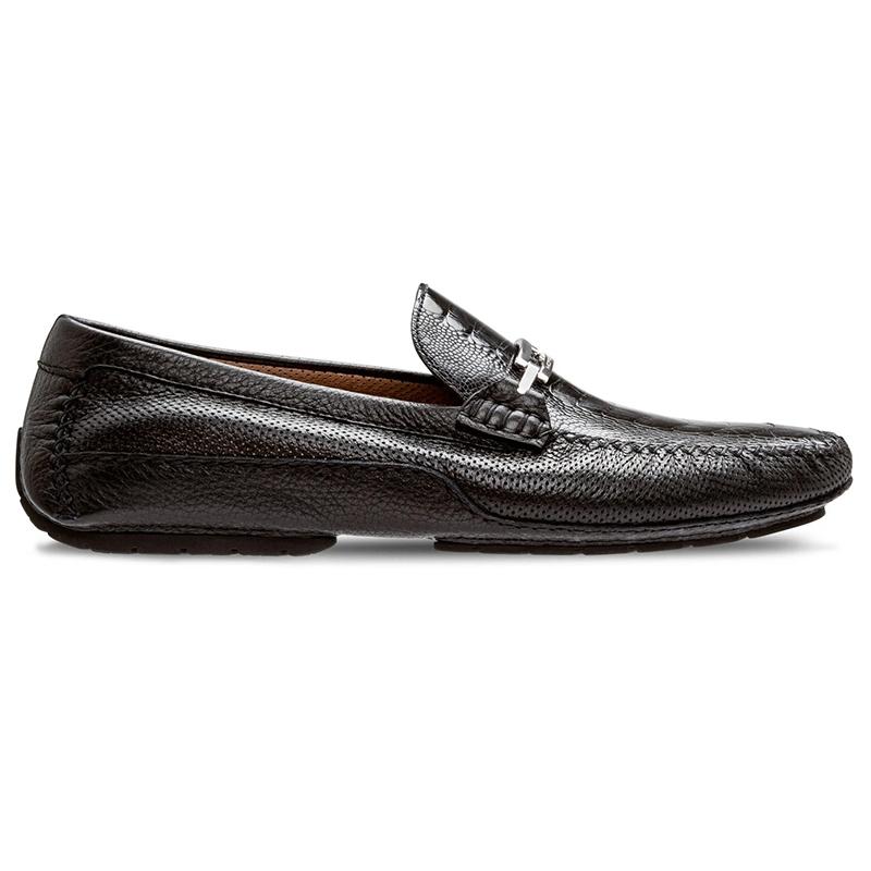 Moreschi 042985A Ostrich Driver Shoes Black Image