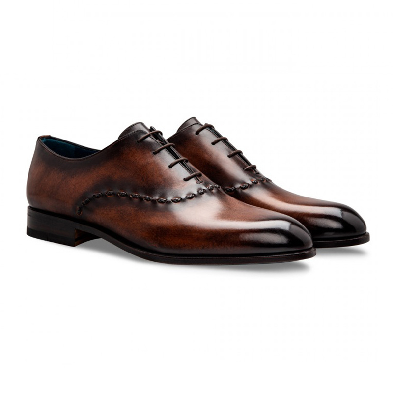 Moreschi 043128C Calfskin Oxfords Dark Brown Image