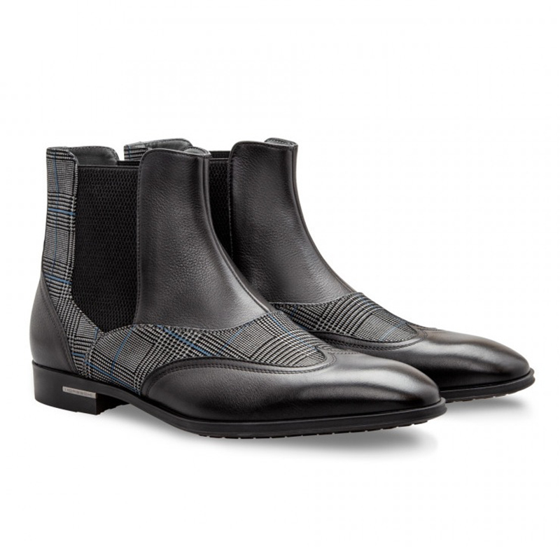 Moreschi 043138 Calfskin and Suede Boots Black Image