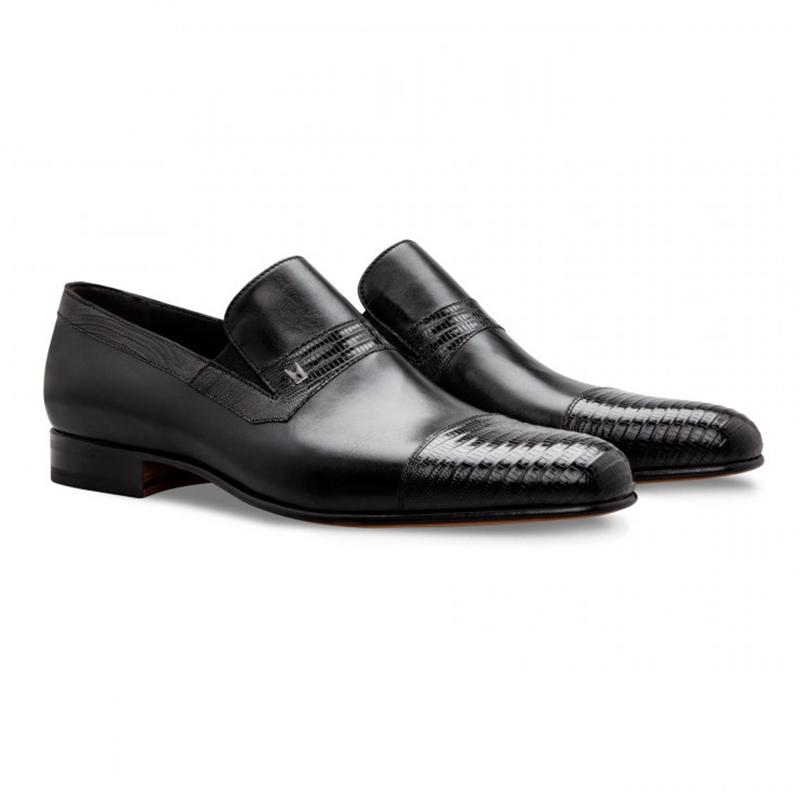 Moreschi 043153 Lizard & Loafer Shoes Black Image