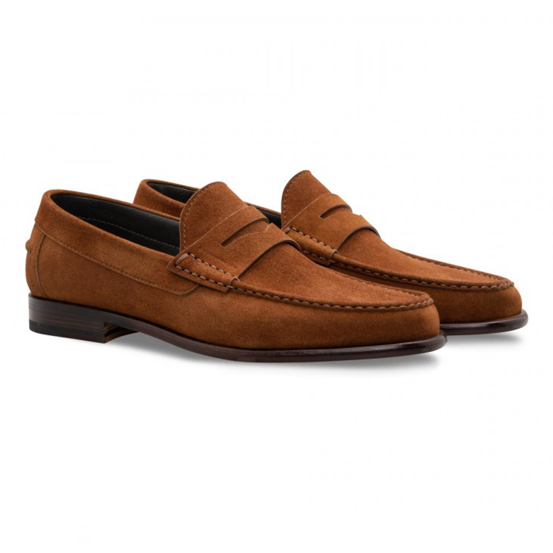 Moreschi 043167A Suede Loafer Shoes Light Brown Image