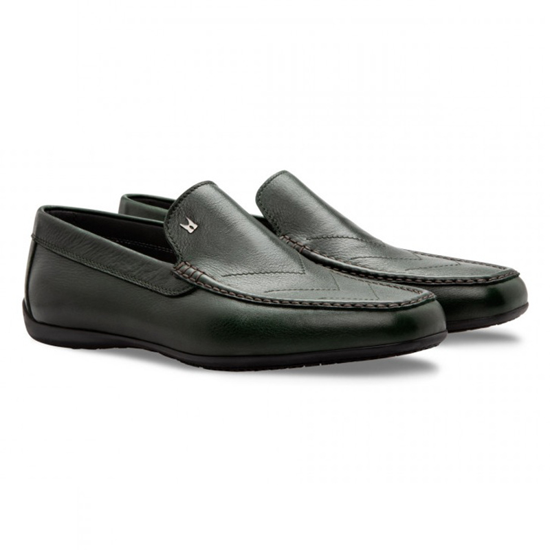Moreschi 043173 VS Calfskin Driver Shoes Dark Green Image