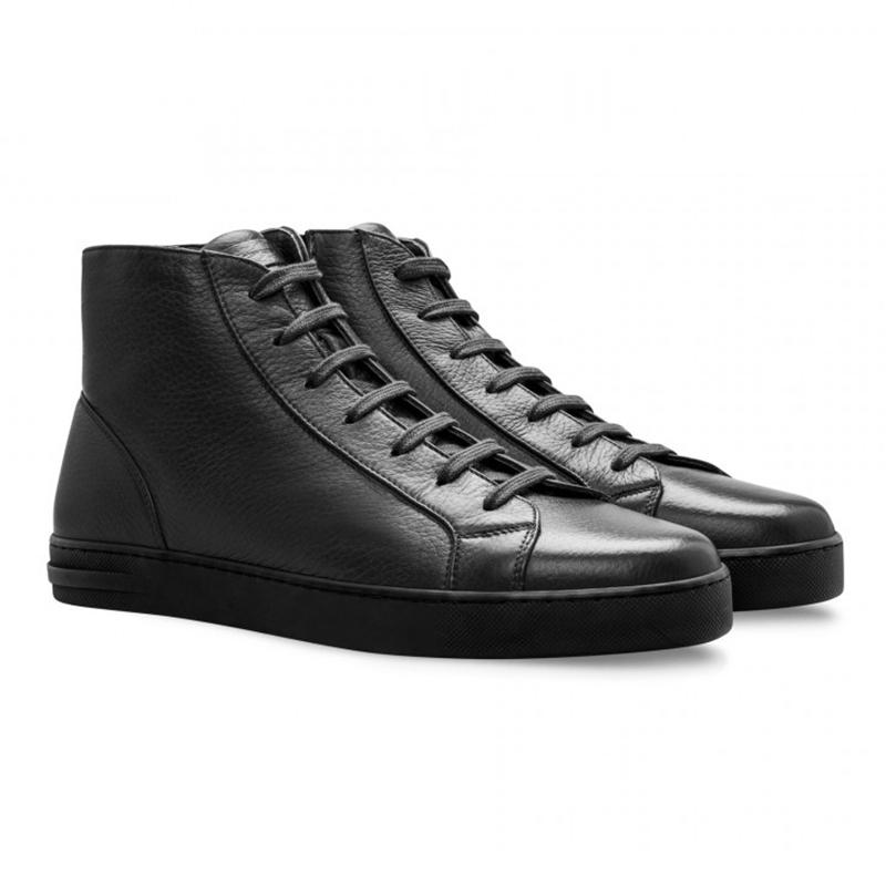 Moreschi 043182A Deersckin Sneakers Black Image