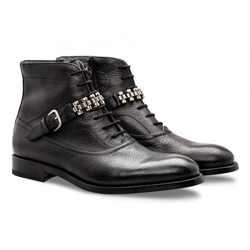 Moreschi 043185A Deerskin Boots Black Image