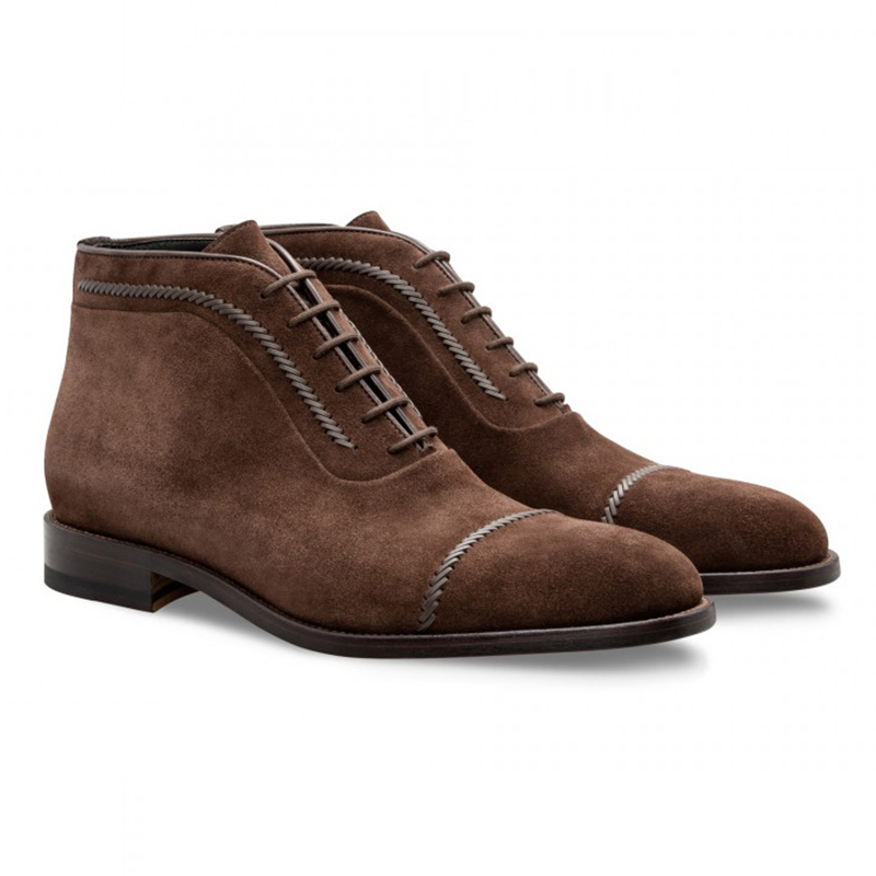 Moreschi 043187A Suede Ankle Boots Dark Brown Image