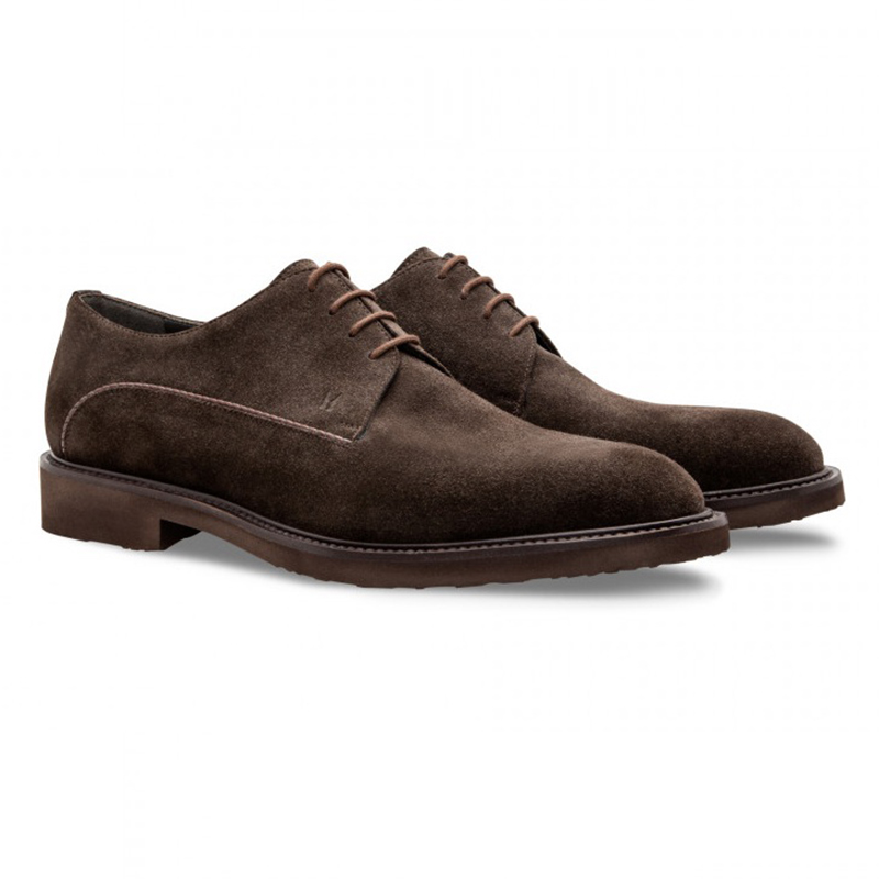 Moreschi 043198 Suede Derby Shoes Dark Brown Image