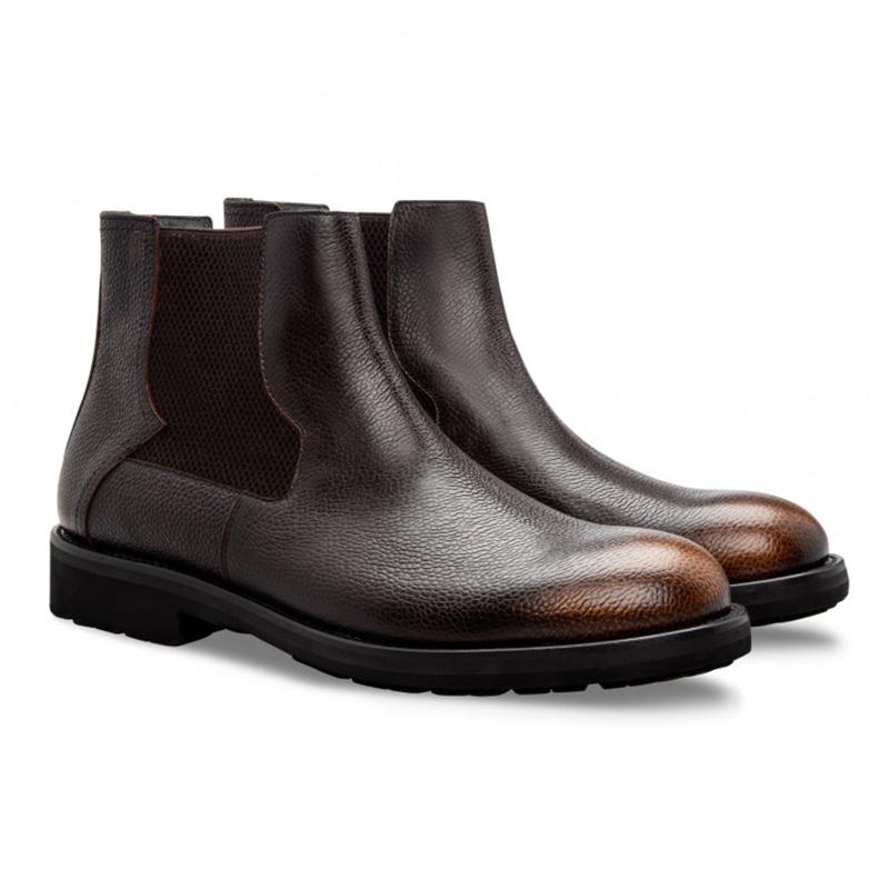 Moreschi 043211A Calfskin Chelsea Boots Brown Image
