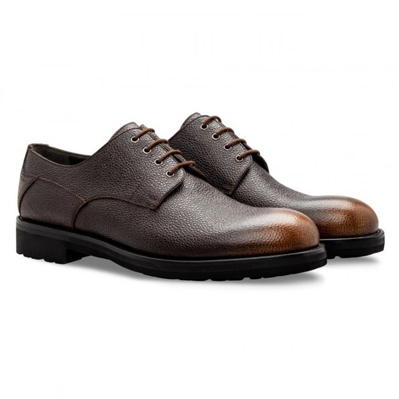 Moreschi 043213 MM Calfskin Derby Shoes Brown Image
