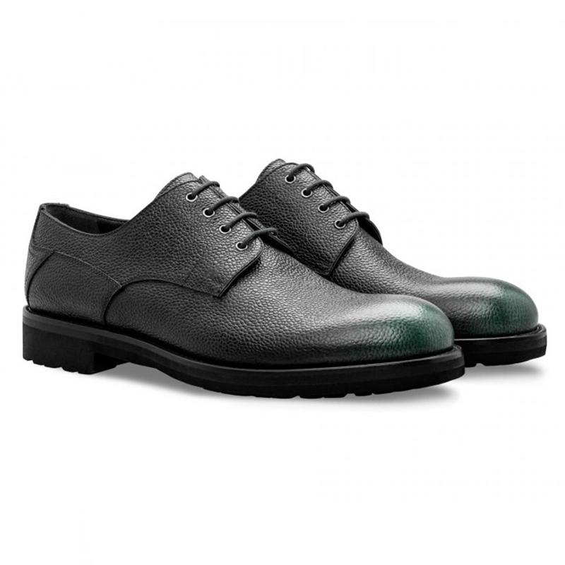 Moreschi 043213 VS Calfskin Derby Shoes Dark Green Image