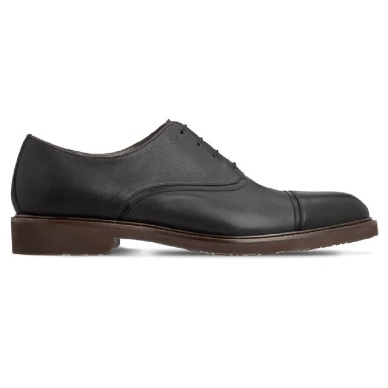 Moreschi 043548A Calfskin Oxford Shoes Black Image