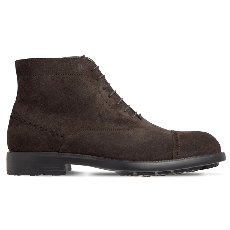 Moreschi 043562A Suede Ankle Boots Dark Brown Image