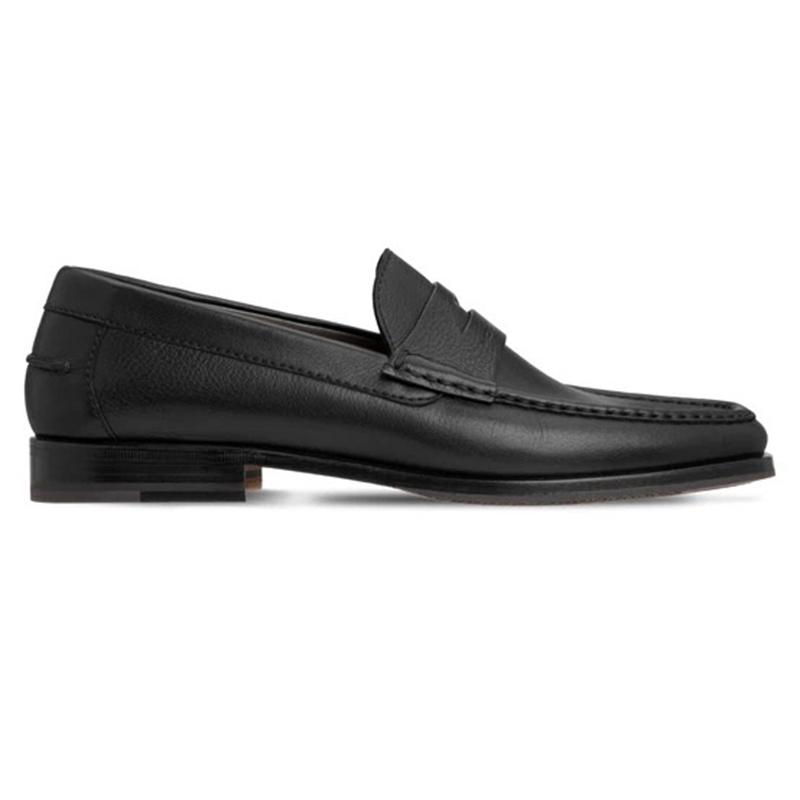 Moreschi 043588B Calfskin Loafer Shoes Black Image