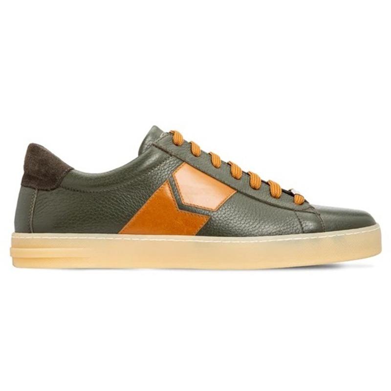 Moreschi 043598C Deerskin Sneakers Green Image