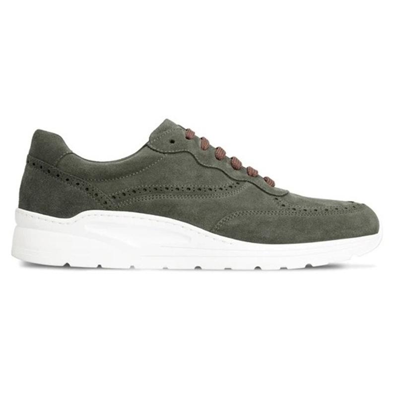 Moreschi 043601C Suede Sneakers Dark Green Image