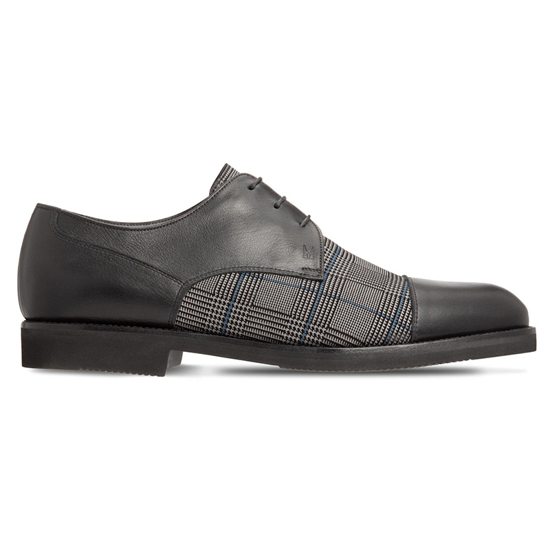 Moreschi 043623B Calfskin Derby Shoes Black Image