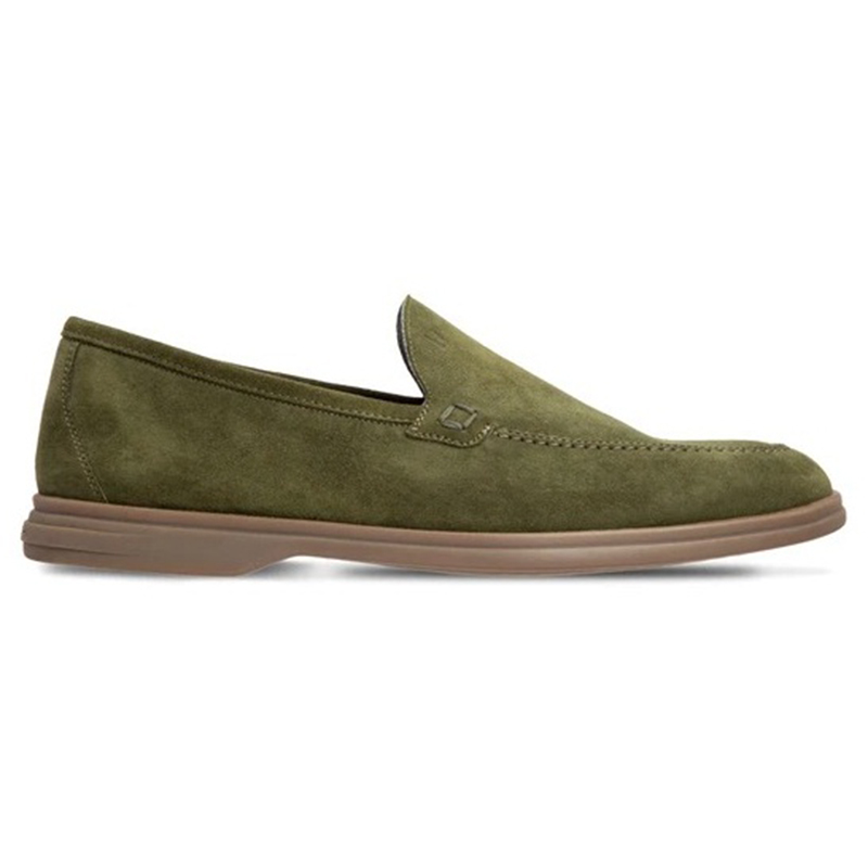 Moreschi 043638-VS Suede Loafer Shoes Dark Green Image