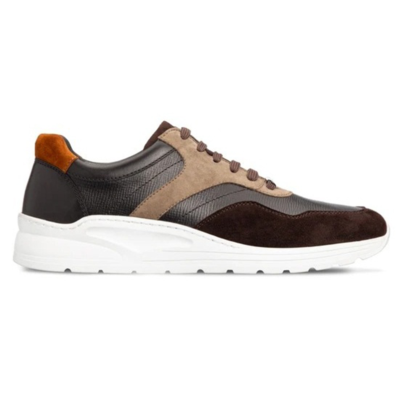 Moreschi 043641 Calfskin Sneakers Brown Multicolor Image
