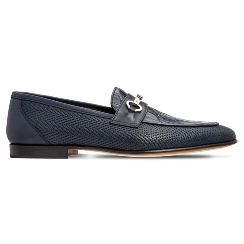 Moreschi 043664-BS Crocodile & Calf Loafers Dark Blue Image