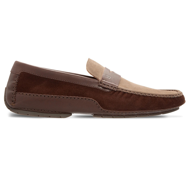 Moreschi 043705D Suede and Calfskin Driver Brown Taupe Image