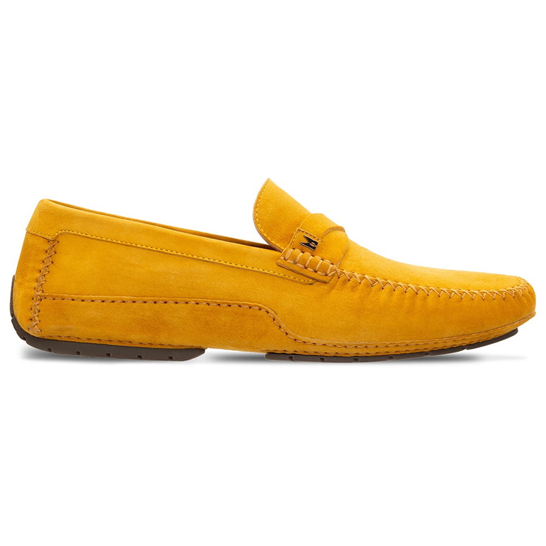 Moreschi 043706-GI Suede Driving Shoes Yellow Image