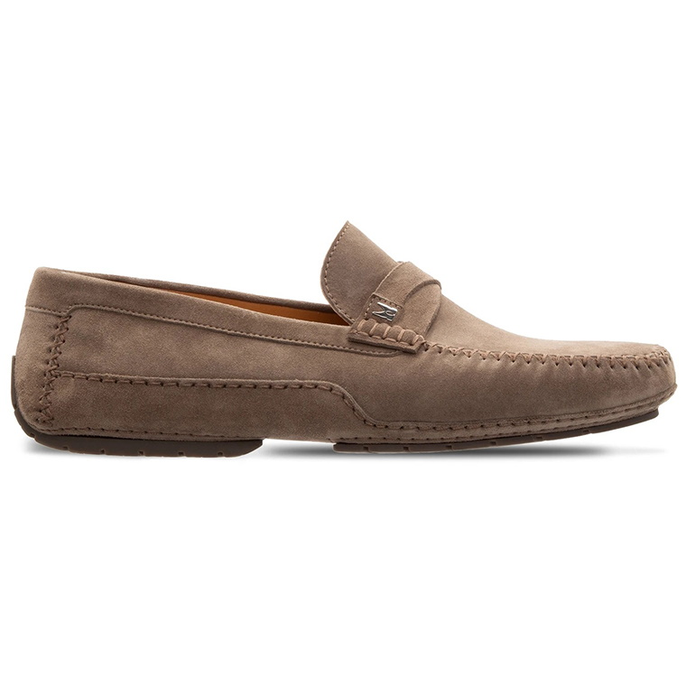 Moreschi 043706-TP Suede Driving Shoes Taupe Image