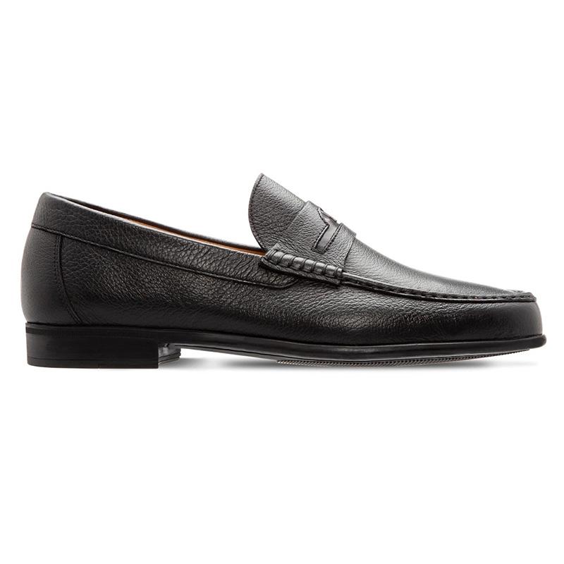 Moreschi 043713A Deerskin Leather Loafer Black Image