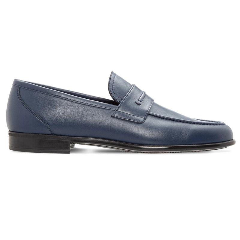 Moreschi 043721-BS Calfskin Loafer Blue Image