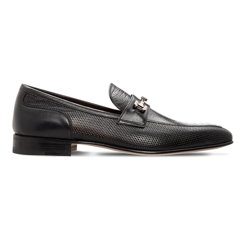 Moreschi 043766A Perforated Leather Loafer Black Image
