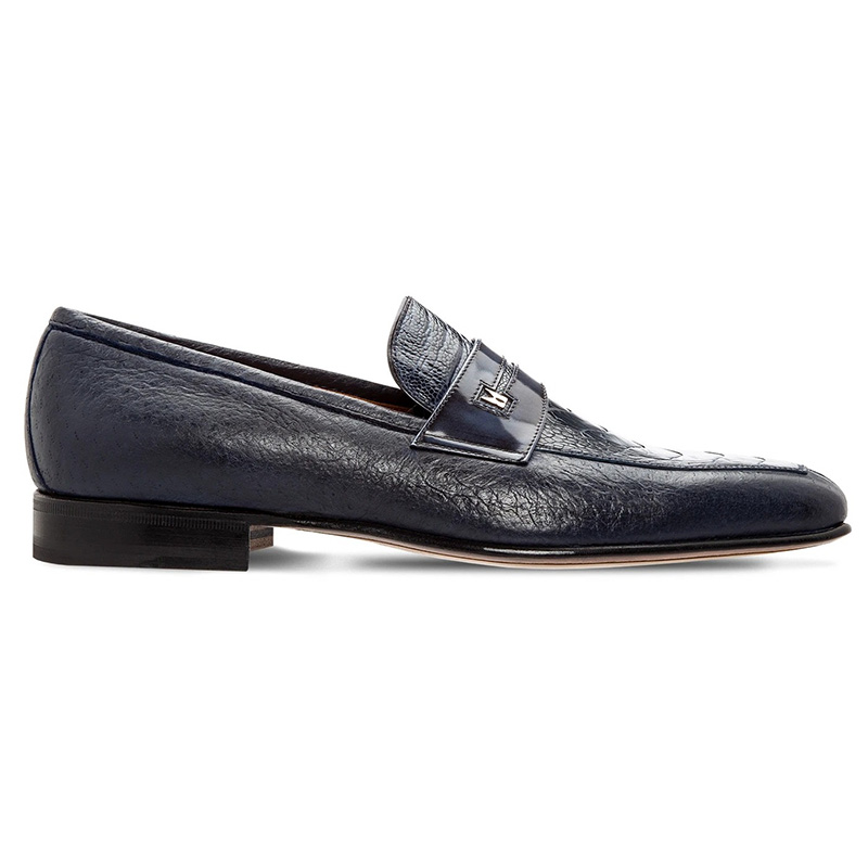 Moreschi 043768A Peccary And Ostrich Loafer Blue Image