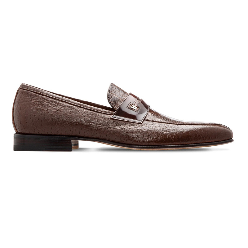 Moreschi 043768C Peccary And Ostrich Leather Loafer Dark Brown Image